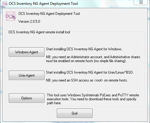 Install application remotely on Windows with the help of OCS
