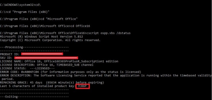 Command for Office16